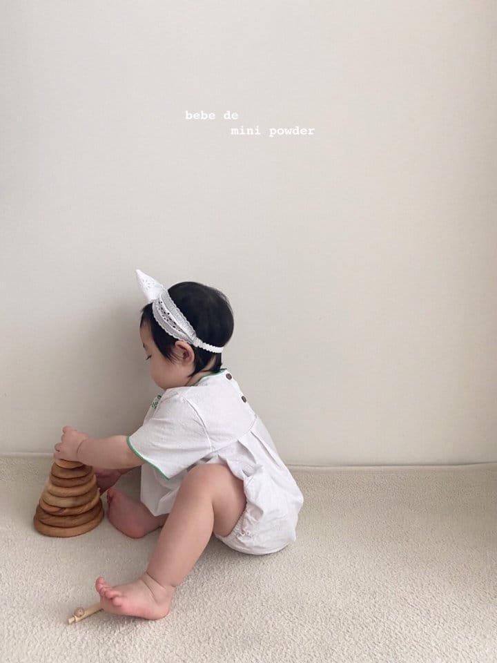 MINI POWDER - Korean Children Fashion - #Kfashion4kids - Summer Embroidery Bodysuit - 10
