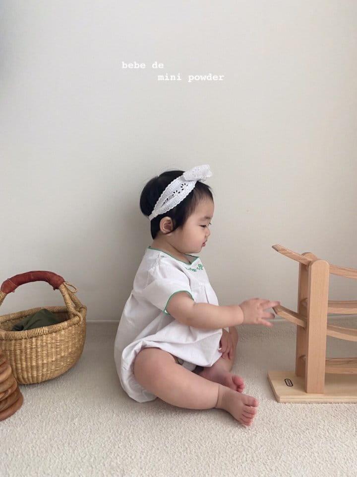 MINI POWDER - Korean Children Fashion - #Kfashion4kids - Summer Embroidery Bodysuit - 11