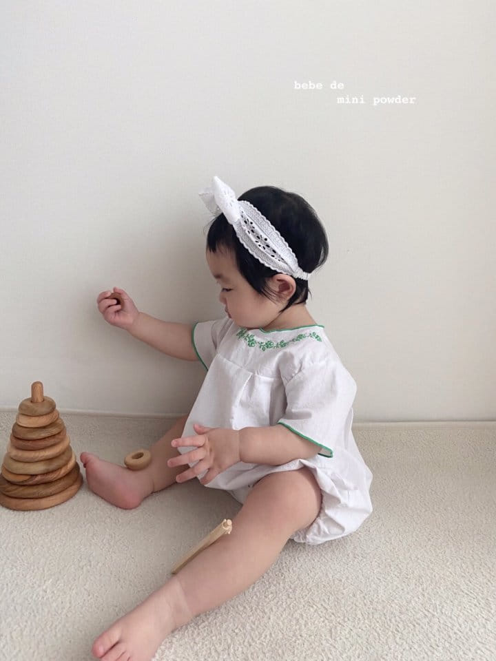 MINI POWDER - Korean Children Fashion - #Kfashion4kids - Summer Embroidery Bodysuit - 4