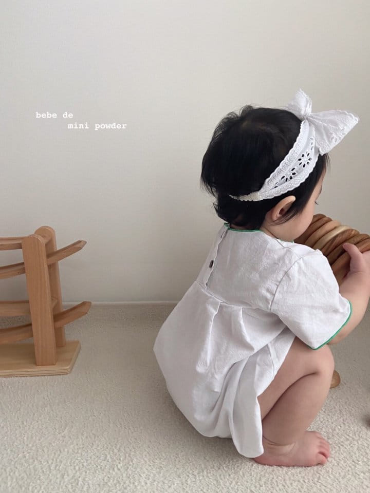 MINI POWDER - Korean Children Fashion - #Kfashion4kids - Summer Embroidery Bodysuit - 5