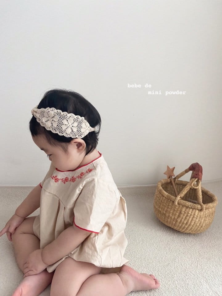 MINI POWDER - Korean Children Fashion - #Kfashion4kids - Summer Embroidery Bodysuit - 6