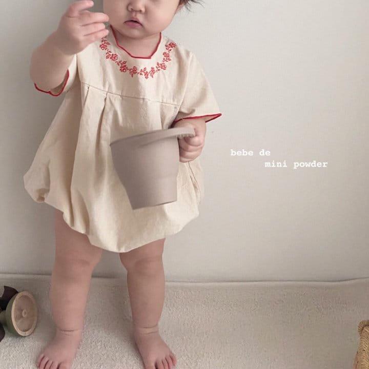 MINI POWDER - Korean Children Fashion - #Kfashion4kids - Summer Embroidery Bodysuit - 7