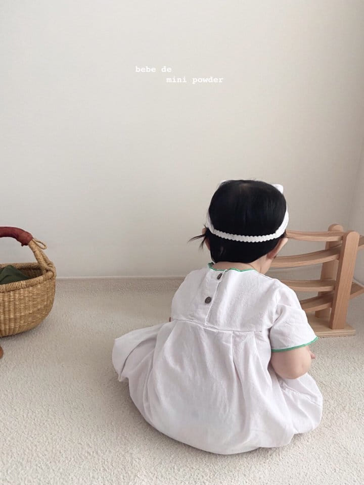 MINI POWDER - Korean Children Fashion - #Kfashion4kids - Summer Embroidery Bodysuit - 9