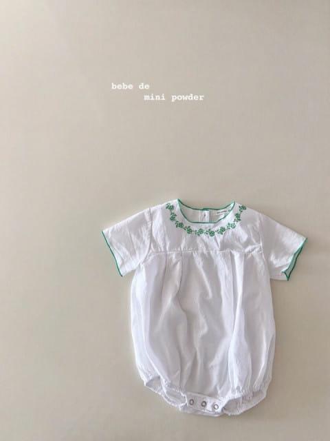 MINI POWDER - BRAND - Korean Children Fashion - #Kfashion4kids - Summer Embroidery Bodysuit