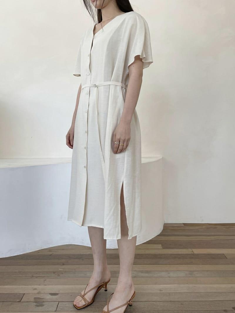 ONEAND - Korean Children Fashion - #Kfashion4kids - Linen Robe One-piece