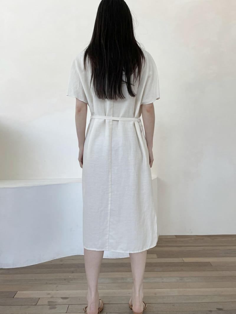 ONEAND - Korean Children Fashion - #Kfashion4kids - Linen Robe One-piece - 3