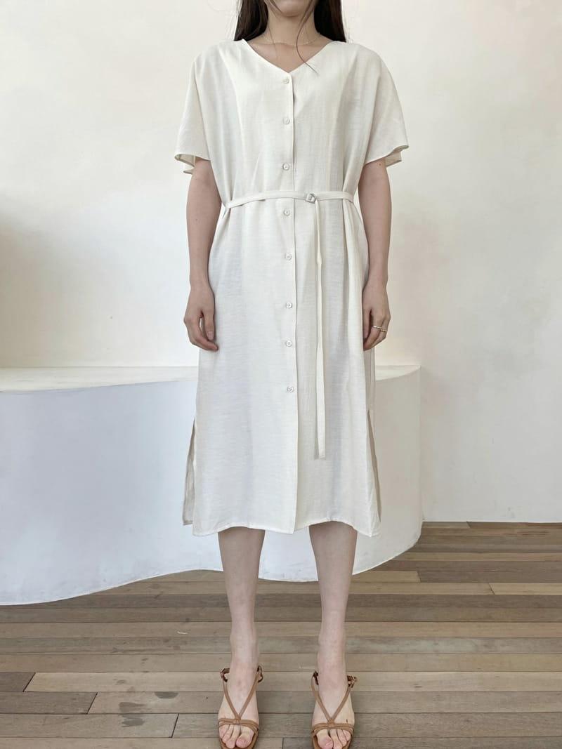ONEAND - BRAND - Korean Children Fashion - #Kfashion4kids - Linen Robe One-piece