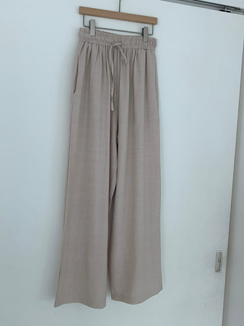 ONEAND - Korean Children Fashion - #Kfashion4kids - Mud Linen Pants