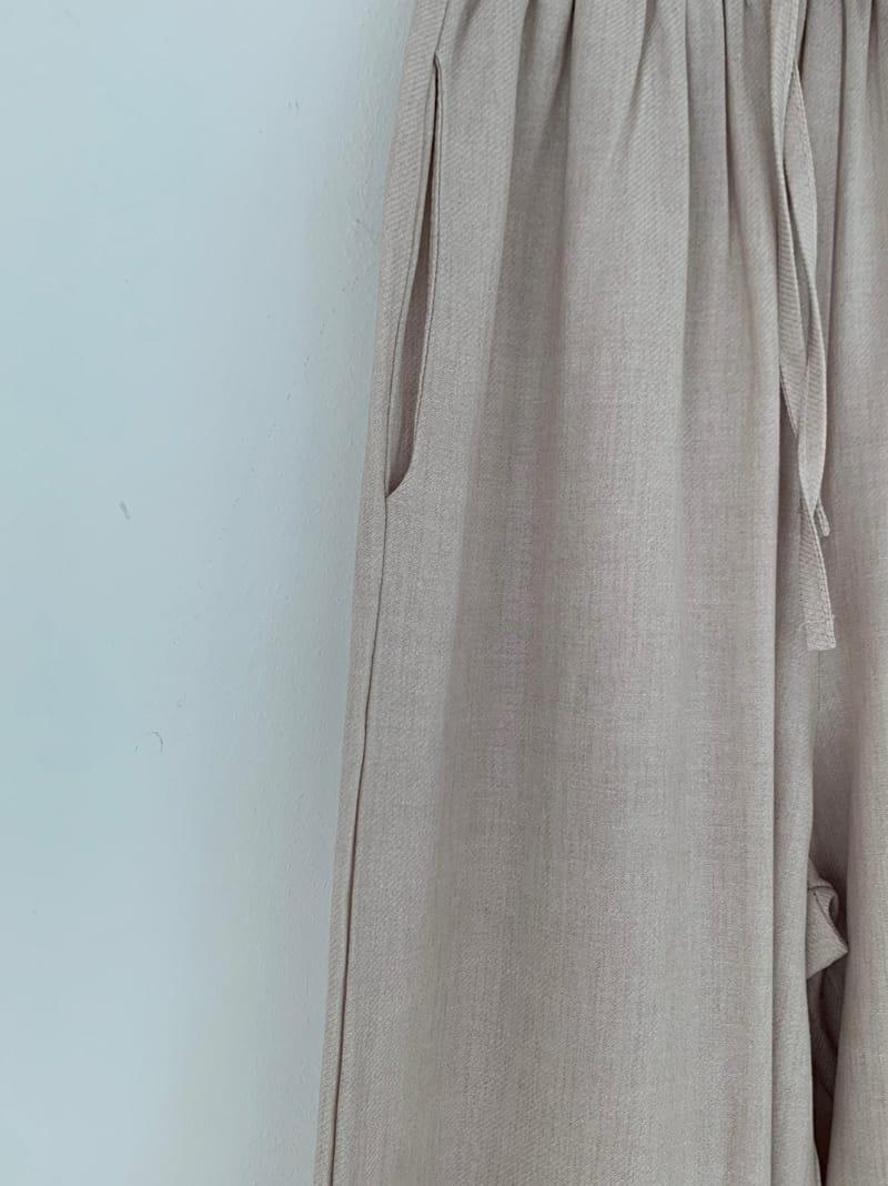 ONEAND - Korean Children Fashion - #Kfashion4kids - Mud Linen Pants - 3