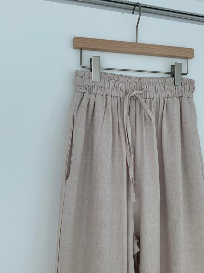 ONEAND - Korean Children Fashion - #Kfashion4kids - Mud Linen Pants - 4