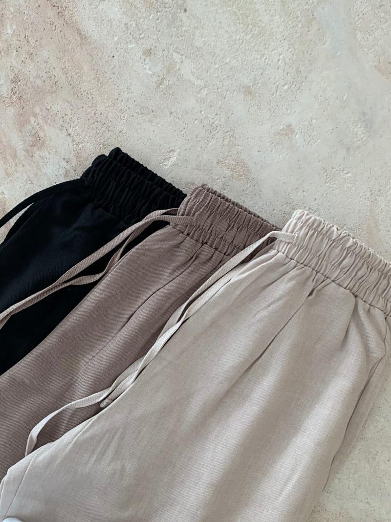 ONEAND - BRAND - Korean Children Fashion - #Kfashion4kids - Mud Linen Pants