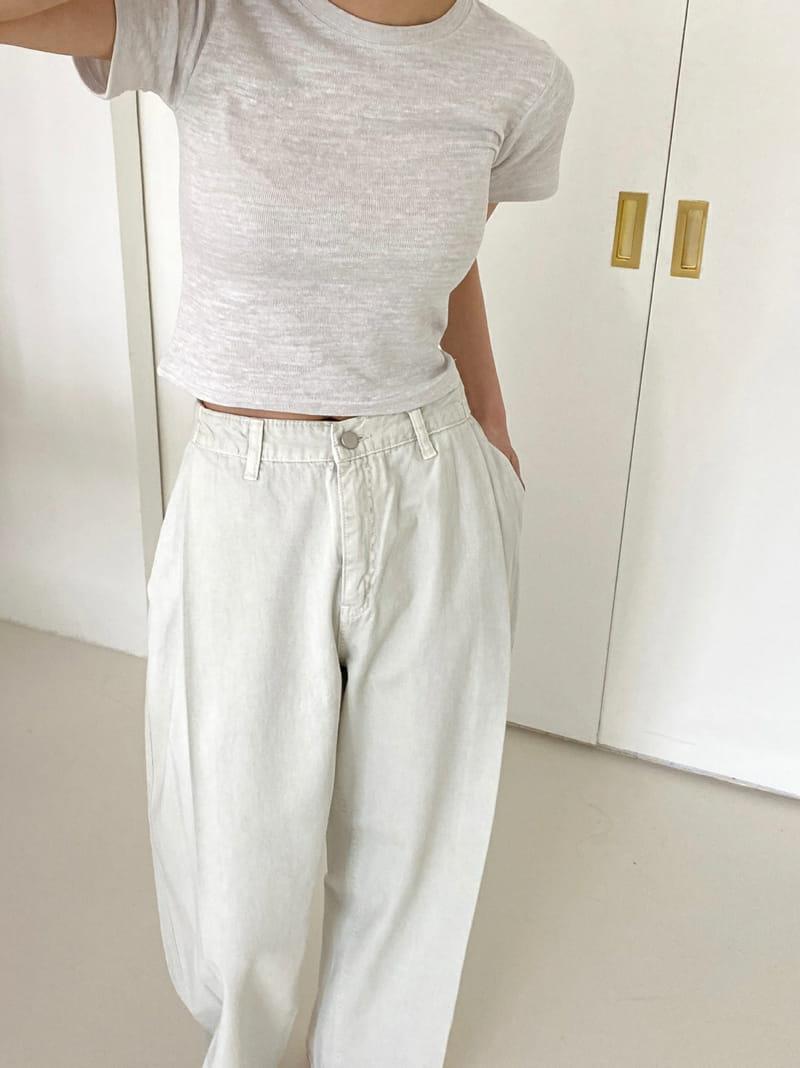 ONEAND - BRAND - Korean Children Fashion - #Kfashion4kids - Betty Crop Tee