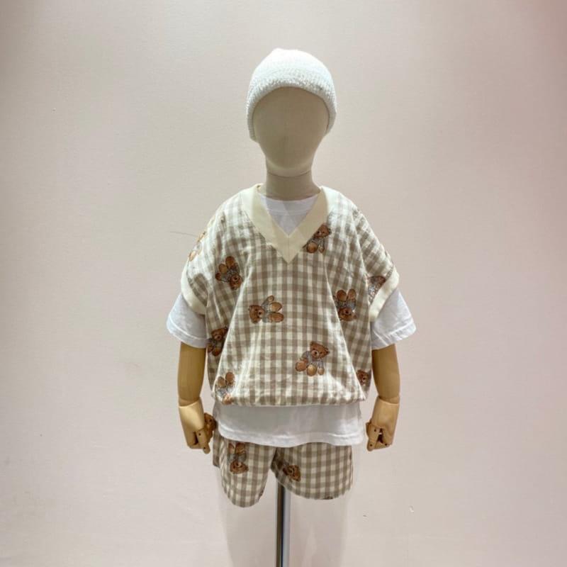 PAPER STUDIOS - Korean Children Fashion - #Kfashion4kids - Bear Sleeveless