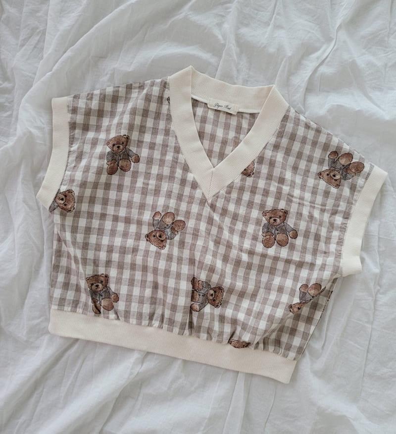 PAPER STUDIOS - Korean Children Fashion - #Kfashion4kids - Bear Sleeveless - 5