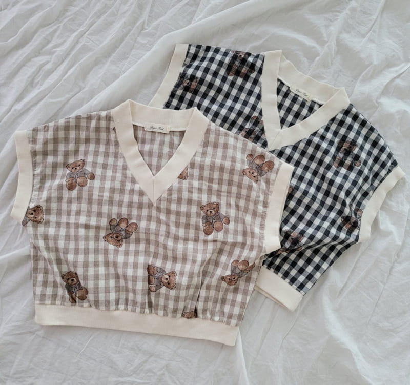 PAPER STUDIOS - Korean Children Fashion - #Kfashion4kids - Bear Sleeveless - 9