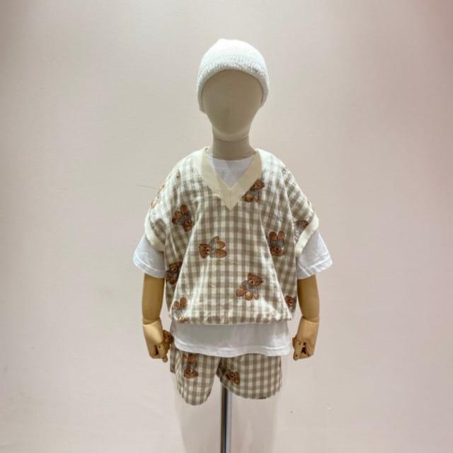 PAPER STUDIOS - BRAND - Korean Children Fashion - #Kfashion4kids - Bear Sleeveless