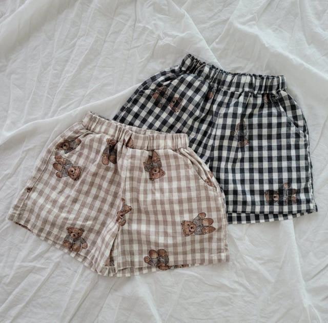PAPER STUDIOS - BRAND - Korean Children Fashion - #Kfashion4kids - Bear Shorts