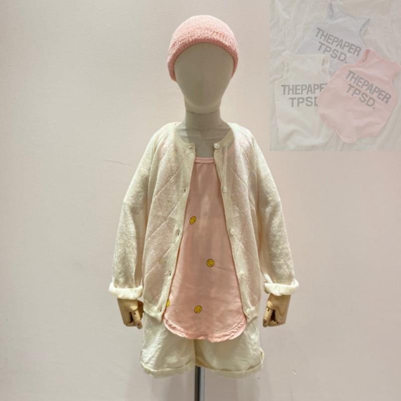 PAPER STUDIOS - Korean Children Fashion - #Kfashion4kids - Smile Sleeveless