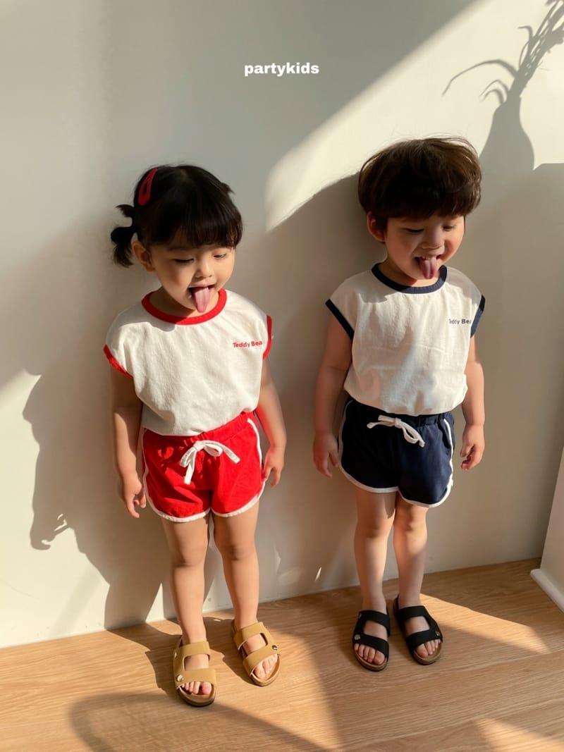 PARTY KIDS - Korean Children Fashion - #Kfashion4kids - Tendy Bear Top Bottom Set