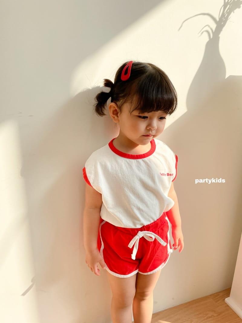 PARTY KIDS - Korean Children Fashion - #Kfashion4kids - Tendy Bear Top Bottom Set - 10