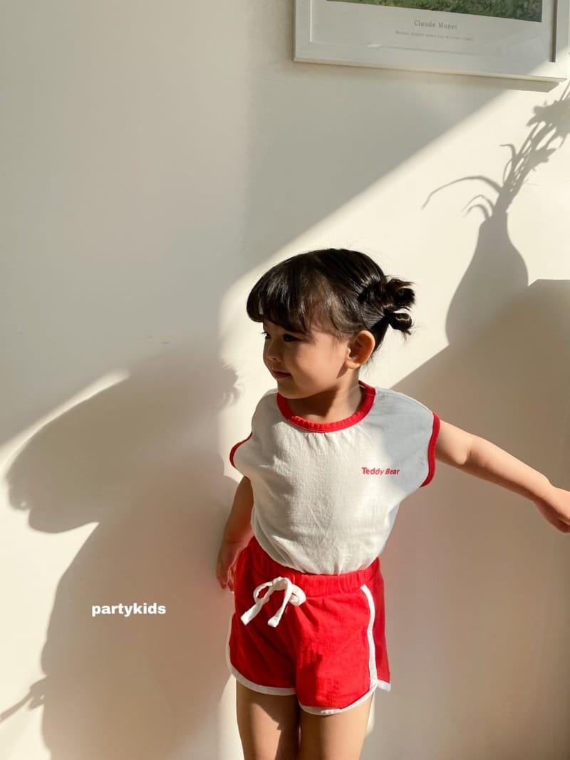 PARTY KIDS - Korean Children Fashion - #Kfashion4kids - Tendy Bear Top Bottom Set - 11