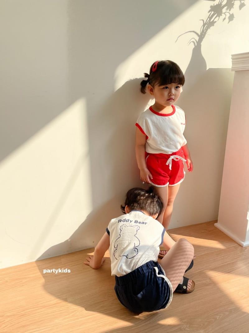 PARTY KIDS - Korean Children Fashion - #Kfashion4kids - Tendy Bear Top Bottom Set - 12