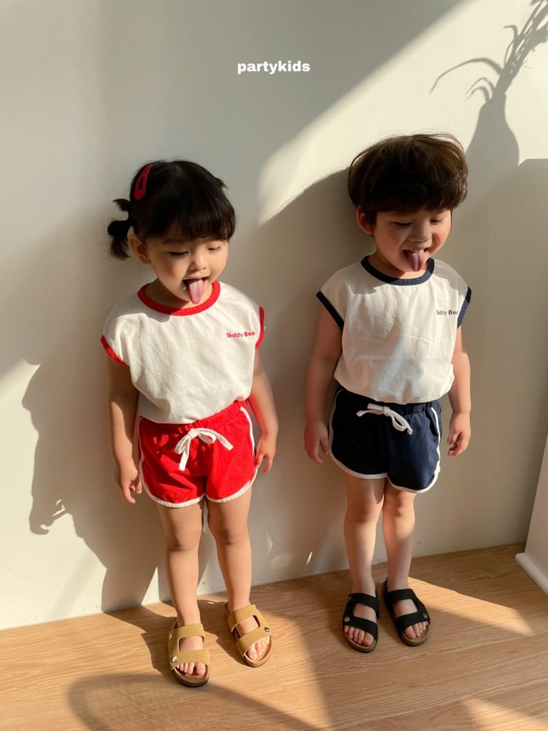 PARTY KIDS - Korean Children Fashion - #Kfashion4kids - Tendy Bear Top Bottom Set - 2