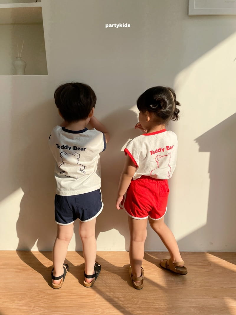 PARTY KIDS - Korean Children Fashion - #Kfashion4kids - Tendy Bear Top Bottom Set - 3