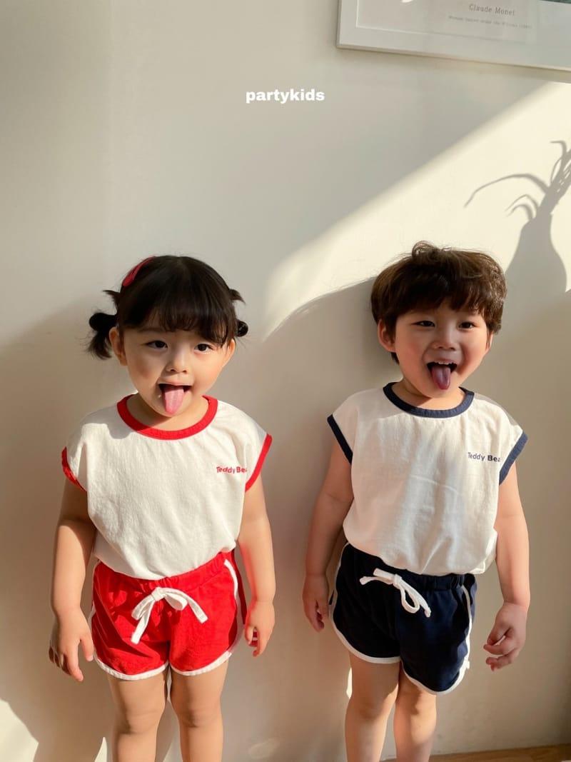 PARTY KIDS - Korean Children Fashion - #Kfashion4kids - Tendy Bear Top Bottom Set - 4
