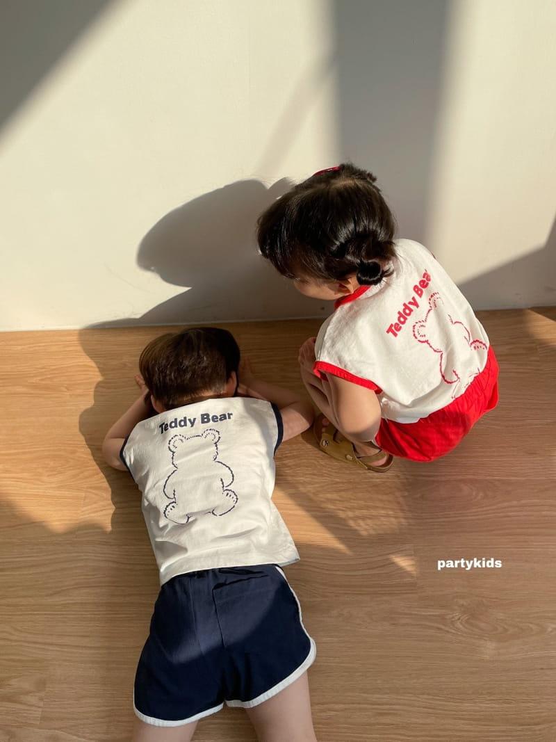 PARTY KIDS - Korean Children Fashion - #Kfashion4kids - Tendy Bear Top Bottom Set - 6