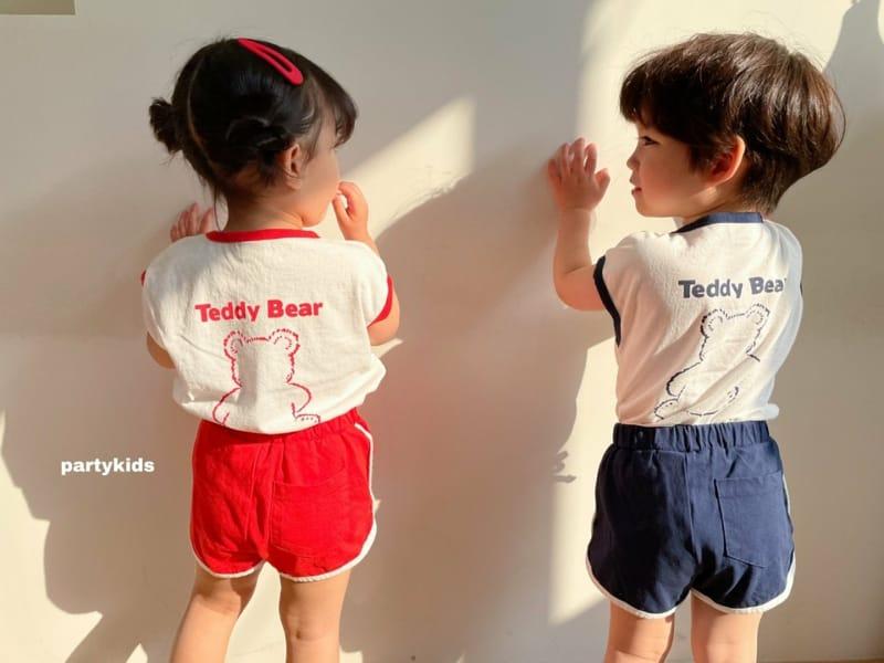 PARTY KIDS - Korean Children Fashion - #Kfashion4kids - Tendy Bear Top Bottom Set - 7