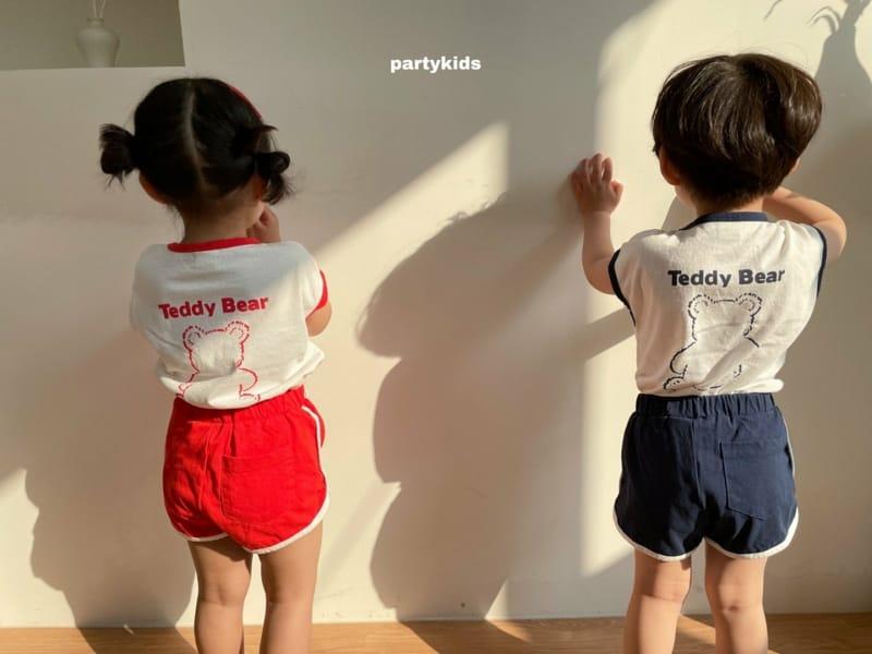 PARTY KIDS - Korean Children Fashion - #Kfashion4kids - Tendy Bear Top Bottom Set - 8