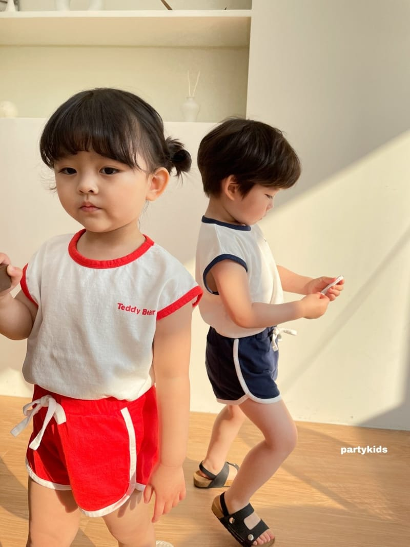 PARTY KIDS - Korean Children Fashion - #Kfashion4kids - Tendy Bear Top Bottom Set - 9