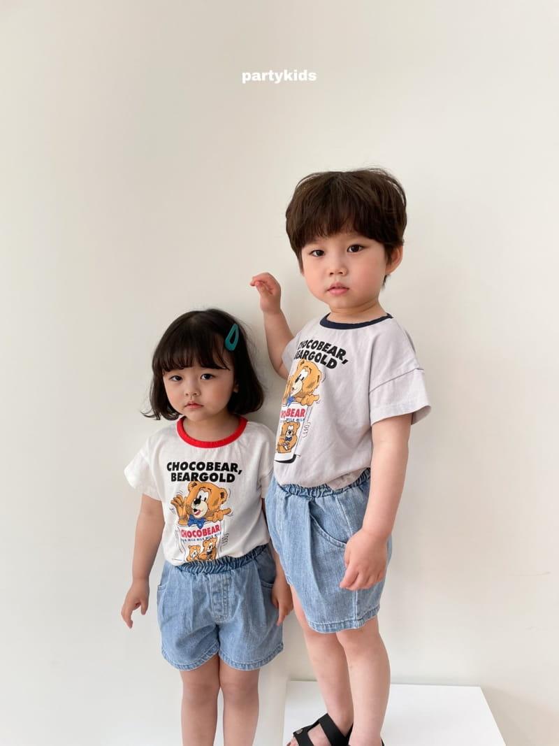 PARTY KIDS - Korean Children Fashion - #Kfashion4kids - Choco Bear Tee - 10