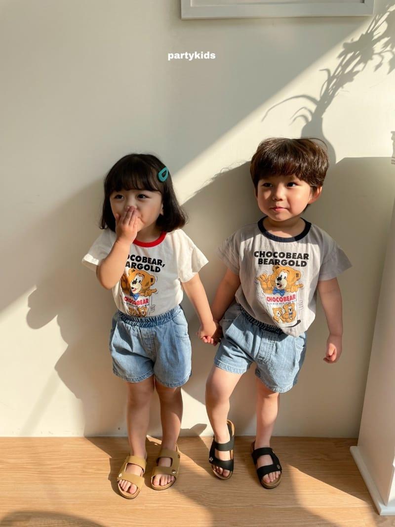 PARTY KIDS - Korean Children Fashion - #Kfashion4kids - Choco Bear Tee - 3