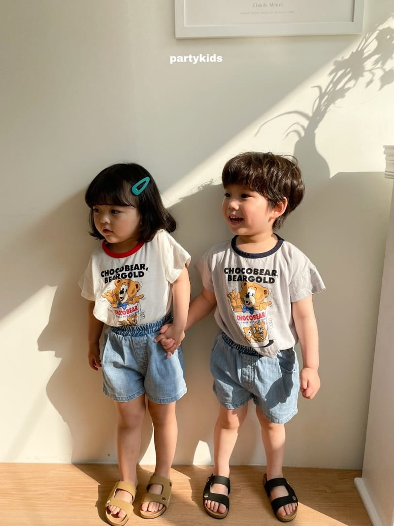 PARTY KIDS - Korean Children Fashion - #Kfashion4kids - Choco Bear Tee - 4