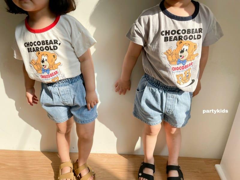 PARTY KIDS - Korean Children Fashion - #Kfashion4kids - Choco Bear Tee - 5