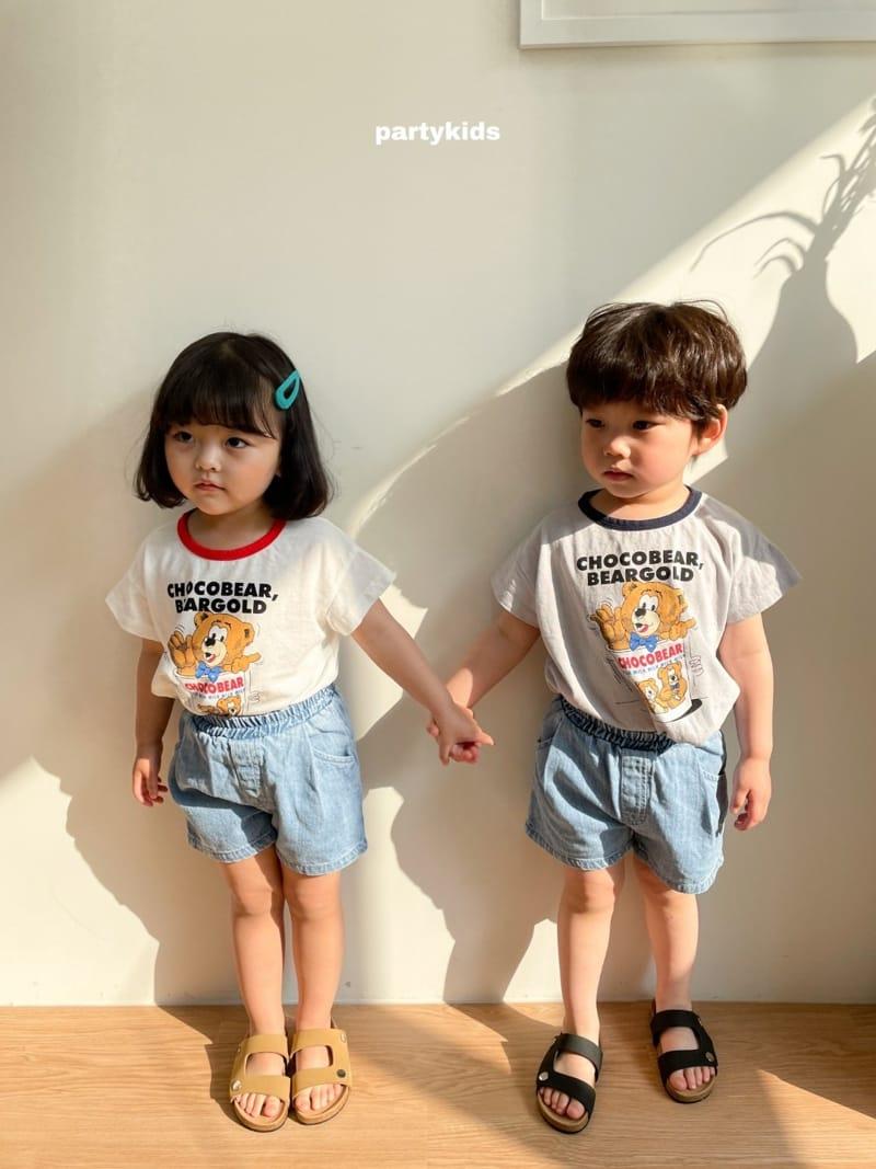 PARTY KIDS - Korean Children Fashion - #Kfashion4kids - Choco Bear Tee - 6