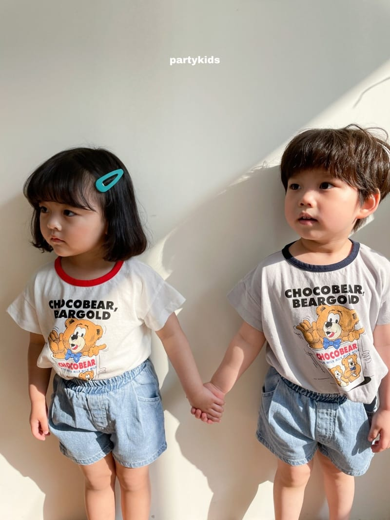 PARTY KIDS - Korean Children Fashion - #Kfashion4kids - Choco Bear Tee - 7