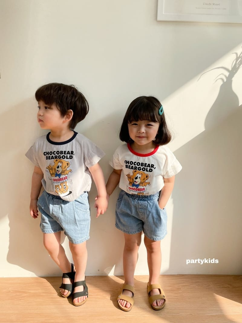 PARTY KIDS - Korean Children Fashion - #Kfashion4kids - Choco Bear Tee - 8
