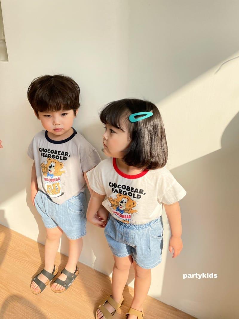 PARTY KIDS - Korean Children Fashion - #Kfashion4kids - Choco Bear Tee - 9