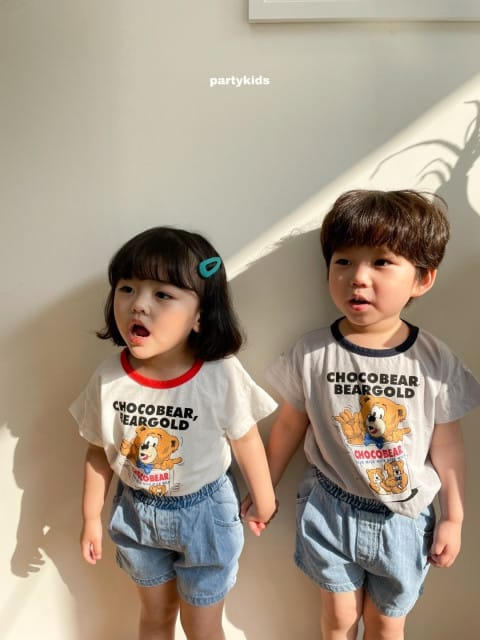 PARTY KIDS - BRAND - Korean Children Fashion - #Kfashion4kids - Choco Bear Tee
