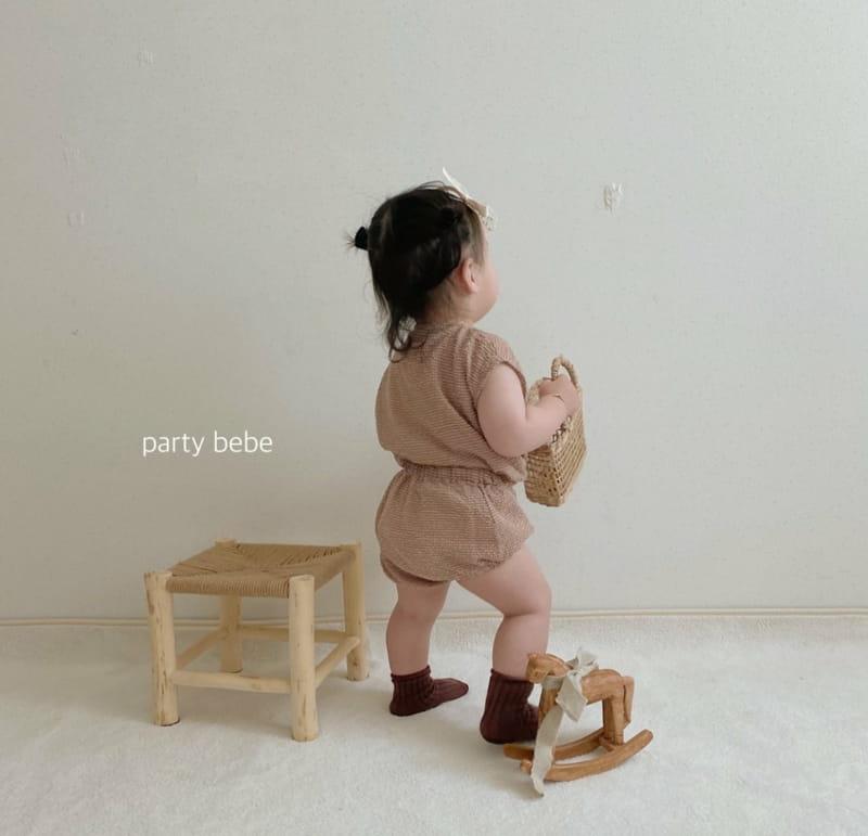 PARTY KIDS - Korean Children Fashion - #Kfashion4kids - Check Check Cool Top Bottom Set - 12