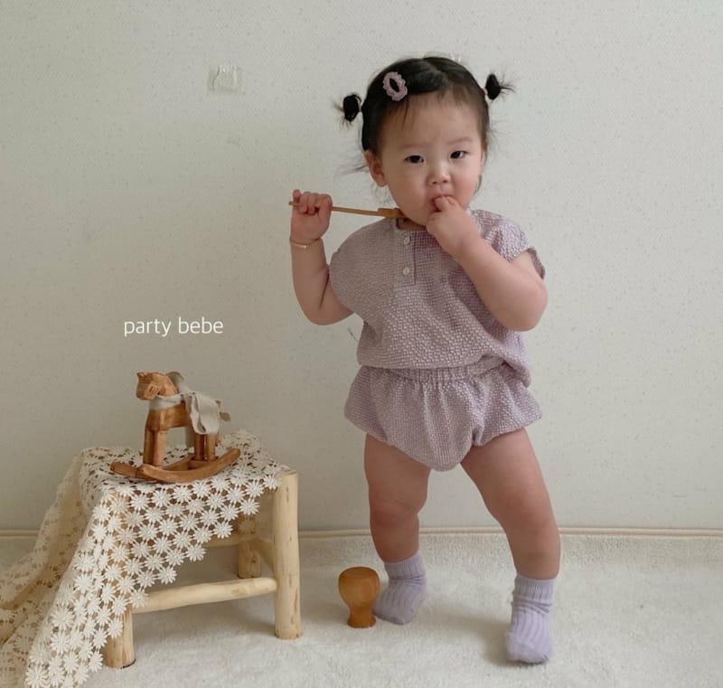 PARTY KIDS - Korean Children Fashion - #Kfashion4kids - Check Check Cool Top Bottom Set - 3