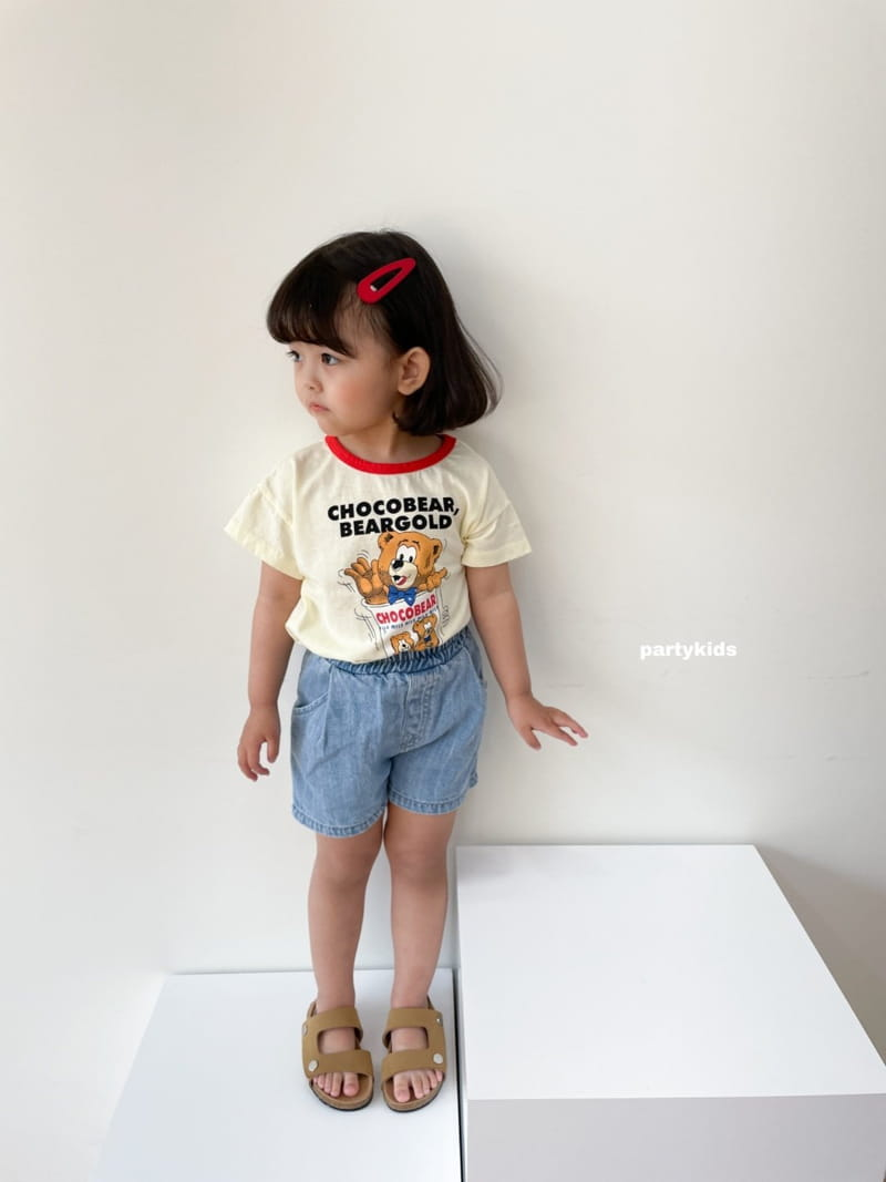 PARTY KIDS - Korean Children Fashion - #Kfashion4kids - Summer Denim Shorts - 3