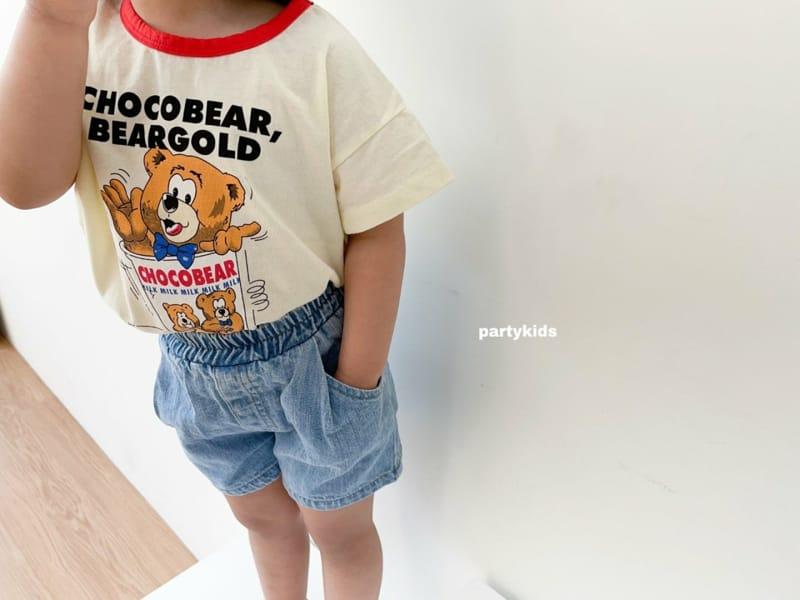 PARTY KIDS - Korean Children Fashion - #Kfashion4kids - Summer Denim Shorts - 4