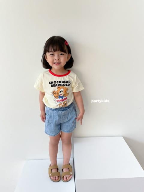 PARTY KIDS - BRAND - Korean Children Fashion - #Kfashion4kids - Summer Denim Shorts