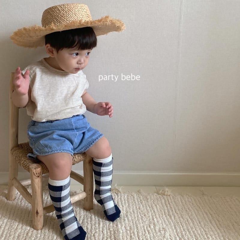 PARTY KIDS - Korean Children Fashion - #Kfashion4kids - Bebe Ppi Ppi Denim Shorts