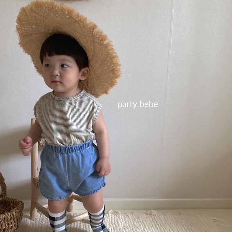 PARTY KIDS - Korean Children Fashion - #Kfashion4kids - Bebe Ppi Ppi Denim Shorts - 10
