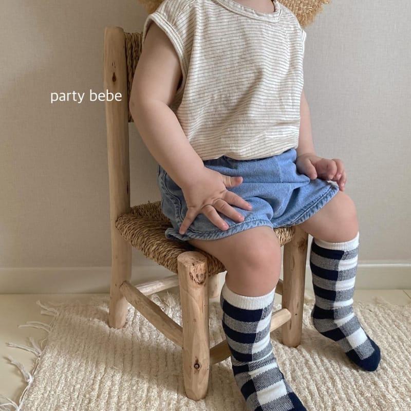 PARTY KIDS - Korean Children Fashion - #Kfashion4kids - Bebe Ppi Ppi Denim Shorts - 12